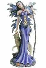 More details for winter fairy and wolf companion display figurine statue sculpture figure