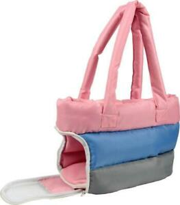 Tri-Colored Insulated Designer Fashion Pet Dog/Cat Carrier Tote Purse Bag - NWTS