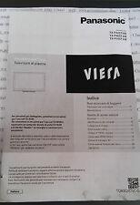 TV Panasonic tx-p42st30e tx-p46st30e tx-p50st30e instruction manual italiano
