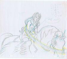 She-Ra MOTU Original Art Animation Production Blue, Yellow Pencils S-18