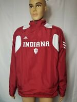 Indiana University Hoosiers IU Spellout Pullover Adidas Jacket Climaproof Scorch