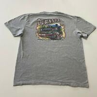 Vintage Harley Davidson T-Shirt Mens Size XL Gray Double Sided Durango Co