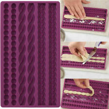 3D Knit Rope Silicone Fondant Cake Mold Sugarcraft Border Chocolate Icing Mould