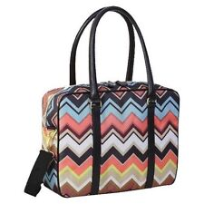 New Missoni For Target Travel Tote Messenger Bag Multicolor Chevron Luggage