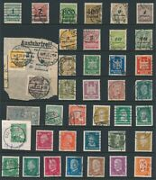 Lot Stamp Germany Weimer Reich Hindenburg Inflation Eagle Revenue Used