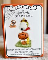 Hallmark Keepsake Snoopy and Woodstock O' Lantern Halloween Ornament 2012