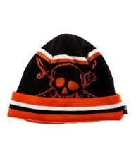 Fourstar Clothing Mens The Pirate Stripe Beanie Hat, Black, One Size