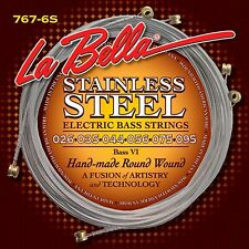 La Bella 767-6S Bass VI stainless steel roundwound 026/095