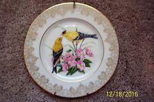 Lenox Garden Bird Plate Collection 1991 - American Goldfinch - 24K gold trim