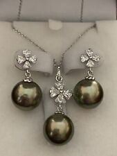SOUTH SEA PEARL NECKLACE & EARRINGS SET