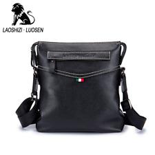 LUOSEN Men Leather Bag Male Casual Messenger Shoulder Crossbody Bag Handbag