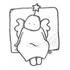 Magnolia Christmas EZ Mount Rubber Stamp - Linnea Star Baby Sitting 0067G
