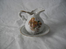 Vintage Mallard Duck Mini Water Pitcher & Wash Bowl