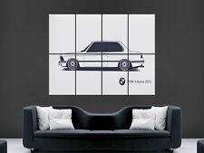 BMW 3 SERIES E21 CAR WHITE CLASSIC RETRO  IMAGE ART LARGE WALL  POSTER  PRINT