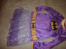 Batgirl Girls Purple Costume Dress w/lining Size M Batman Outfit (B61)