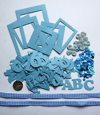 NO 339 Scrapbooking - 104 Die Cut Blue Alphabet (Not Stickers) + Photo Frames