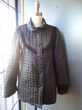 DARLING *BETSEY JOHNSON* S Black Circle Quilted Black Button Down Jacket