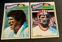 1977 Topps #55 John Riggins and #429 Calvin Hill - Redskins