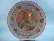 The World Of Peter Rabbit , Wedgewood, Happy Birthday 1997 Decorative Plate