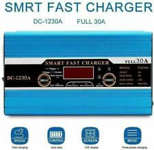 30A Leisure LCD Battery Charger For Caravan Campervan Motorhome Marine Boat 12V