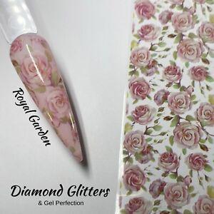 Nail Transfer Foil 1m Floral Rose Full Coverage Nail Art Royal Garden