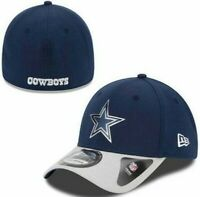 New Era 39Thirty Dallas Cowboys NFL Football Cap Hat Men M/L flex fit Chrome