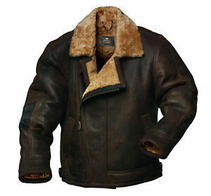 Leather Jacket for Men with Fur Collar, Winter Coat with Fur Collar