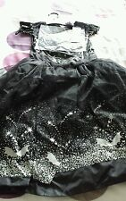 GIRL'S NEW BLACK SWAN HALLOWEEN COSTUME SIZE 9-10 YEARS TESCO