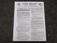 MANTIS LITTLE WONDER EDGER TRIMMER OWNERS MANUAL DELUX 6001 6001K STANDARD 5001