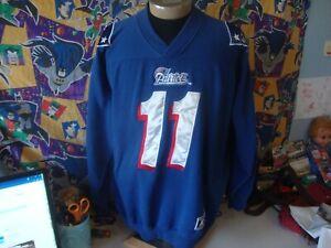 Vintage 90's New England Patriots Drew Bledsoe Team Starter Sweatshirt XL