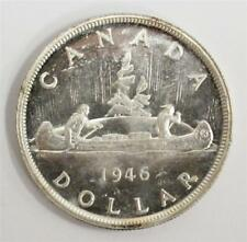 1946 Canada Silver Dollar Choice UNC MS63+ square specimen type milled edge