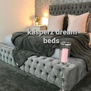 PARK LANE AMBASSADOR BED -Ottoman Gas Lift Bed in Plush Velvet!!!