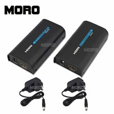 HDMI Extender Sender Receiver 720P/1080Pby Cat5 RJ45 LAN fr PS3 HD TV Projector