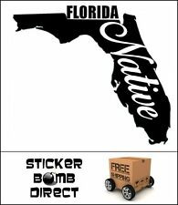 Florida Native Decal Small Flo Grown style Sticker Laptop Car Vinyl Flogrown