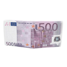 TrendsBlue Premium 500 Euro Bill Currency Money Print PU Leather Bifold Wallet
