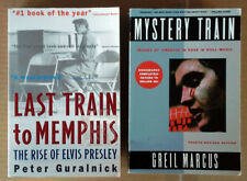 ELVIS PRESLEY - MYSTERY TRAIN - PAPERBACK + LAST TRAIN TO MEMPHIS - PAPERBACK