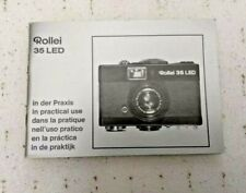 Rollei 35 LED In Practical Use Manual, Instruction Book Genuine Original