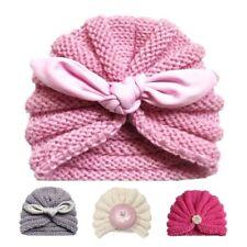 Knitted Baby Turban Hat Winter Bonnet Beanie Cap For Newborn Girls Accessories