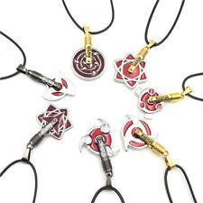 Naruto Shippuuden Kakashi Uchiha Sasuke Itachi Gaara Sharingan Cosplay Necklace