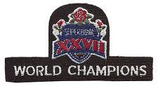 "1993 SUPER BOWL XXVII NFL FOOTBALL DALLAS COWBOYS WORLD CHAMPIONS 3 7/8"" PATCH"