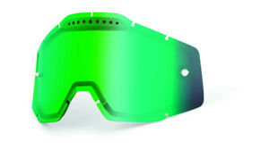Mirror green vented dual replacement lens for 100% goggles - 100%