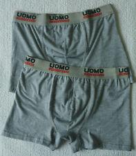 Lot de 2 boxers homme lingerie caleçons gris sous vêtement taille M (Fr 38) neuf