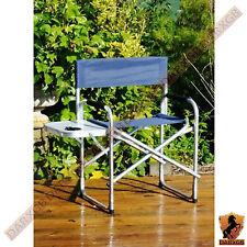 Aluminium toile Administrateurs Chaise Pliante côté table Plage Camping Caravane Picnic