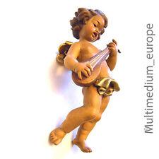 Holz Figur Putto Engel Mandoline Gitarre Schnitzerei wood figure carved angel