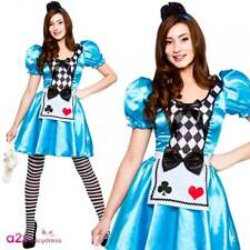 Ladies Womens Book Week Teacher Alice in Wonderland Fancy Dress Costume Outfit L Large UK Size 18 - 20