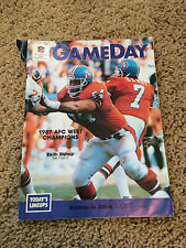 1988 GAMEDAY MAGAZINE Broncos vs Oilers - John Elway  Jan. 10, 1988