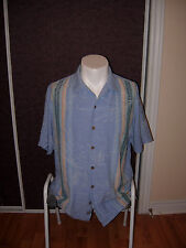 Tommy bahama size Medium (M) men's Hawaiin camp shirt floral blue