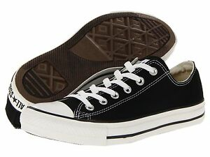 Converse Sneakers  Black Lace CANVAS Chuck Taylor's Boys/Girls Size 2
