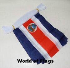COSTA RICA BUNTING Costa Rican Flag 9 Metres 9m 30 Fabric Flags Central America