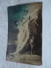 Beautiful Woman w the Horned God PAN 1910 Gerlach RPPC Postcard
